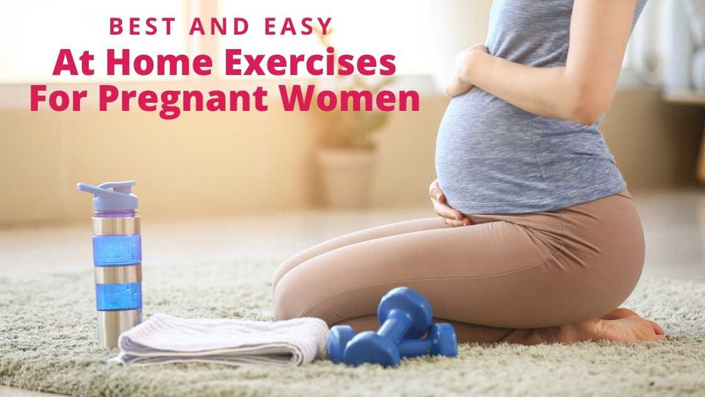 pregnant woman on floor with water bottle and towel ready to exercise