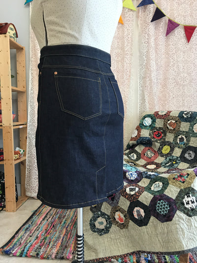 Jeans Skirt Drafting and Sewing