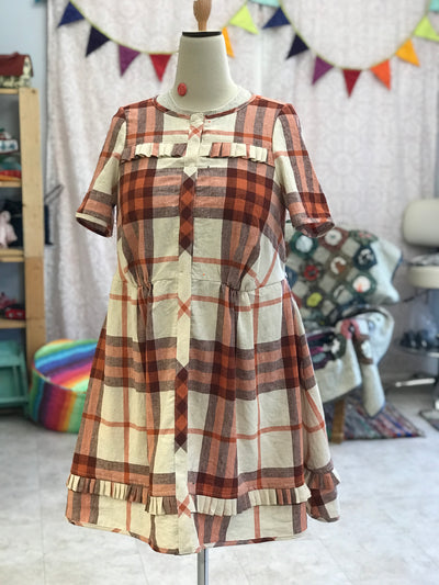 Sagebrush Top Hack to a Dress by Friday Pattern Company