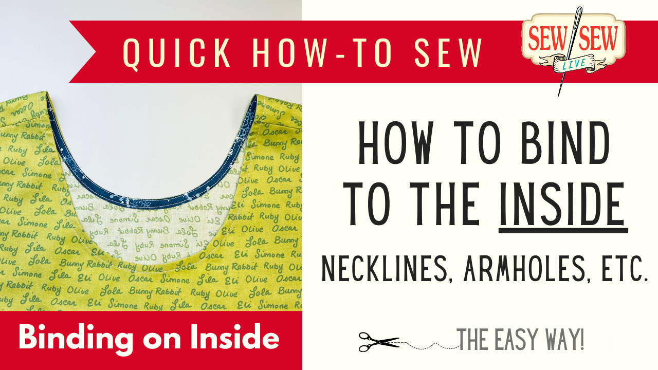 How to Sew Binding to the Inside of a Neckline