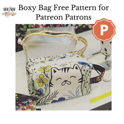 Boxy Bag or Dopp Kit Free Pattern for Patreon Patrons