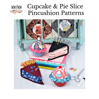 Cupcake and Pie Slice Pincushions Sewing Pattern