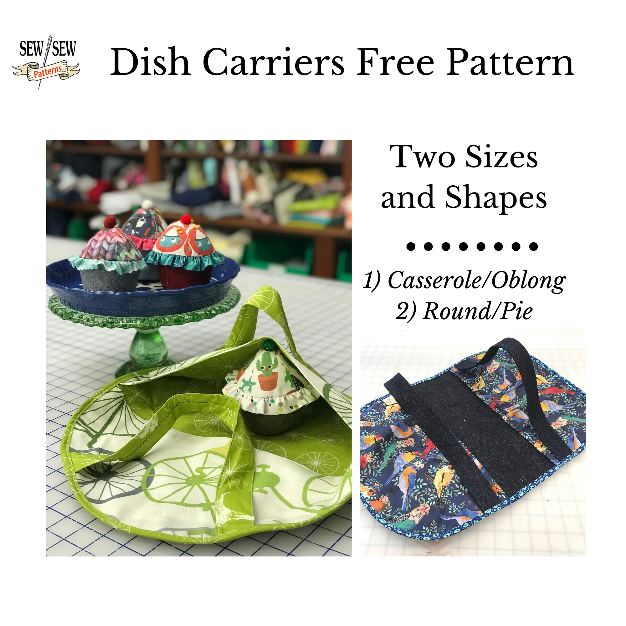 Dish Carriers-Two styles- Free Patterns And Sewing Videos