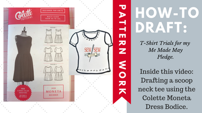 HOW TO Draft a T Shirt from the Moneta Dress