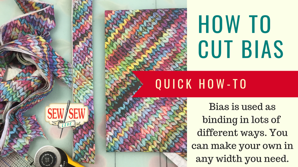HOW TO Cut Bias for Binding