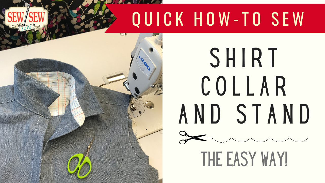 HOW TO Sew a Collar and Collar Stand of a Shirt the Easy Way