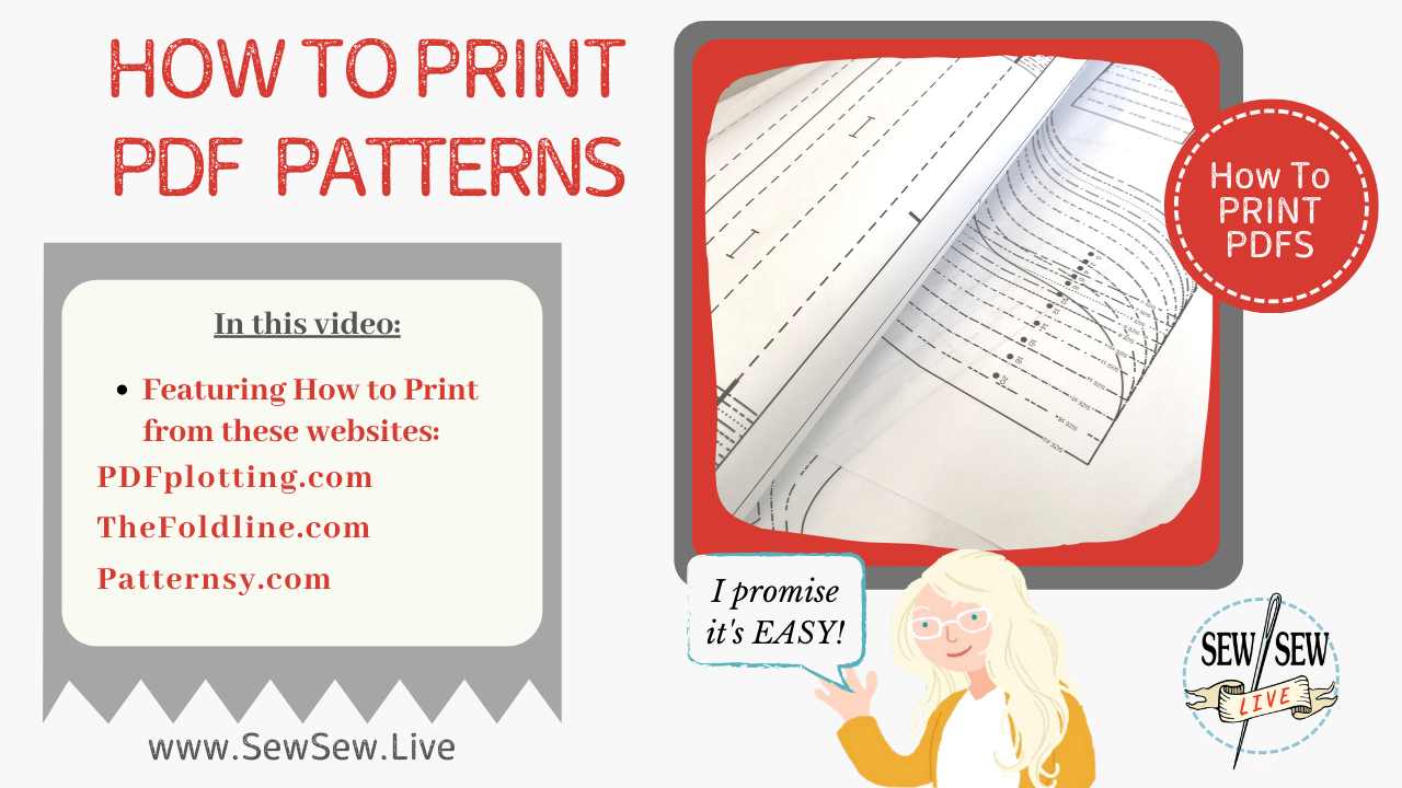 HOW TO Print PDF Patterns -both at home and at a copy shop