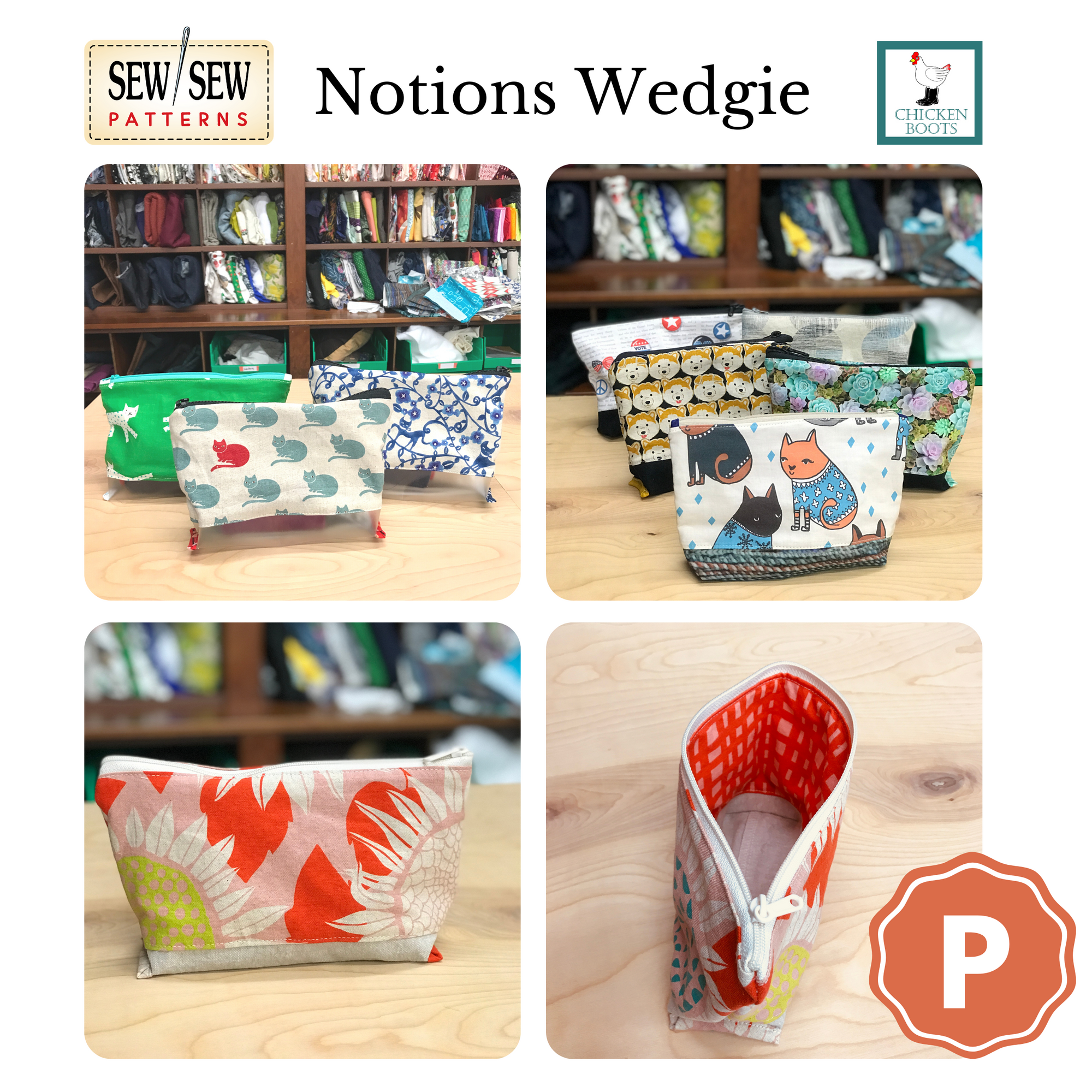 Notions Wedgie by Sew Sew Patterns