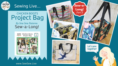 CB Project Bag Live Cutting and Sewing