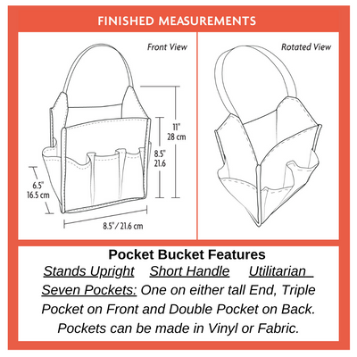 Chicken Boots Pocket Bucket by Sew Sew Patterns
