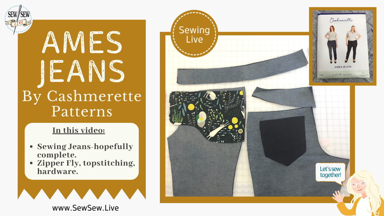 Ames Jeans by Cashmerette Patterns