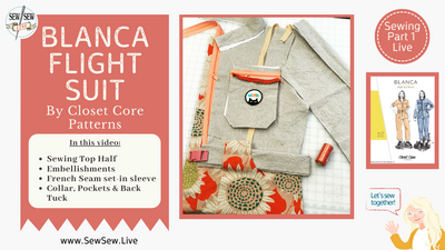 Blanca Flight Suit by Closet Core Patterns
