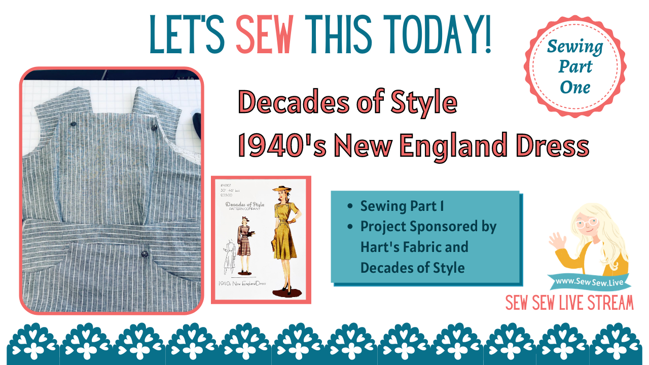 1940's New England Dress by Decades of Style