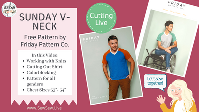 Sunday V-Neck by Friday Pattern Company