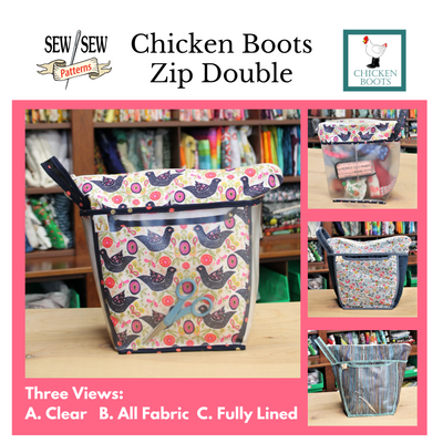Chicken Boots Zip Double by Sew Sew Patterns