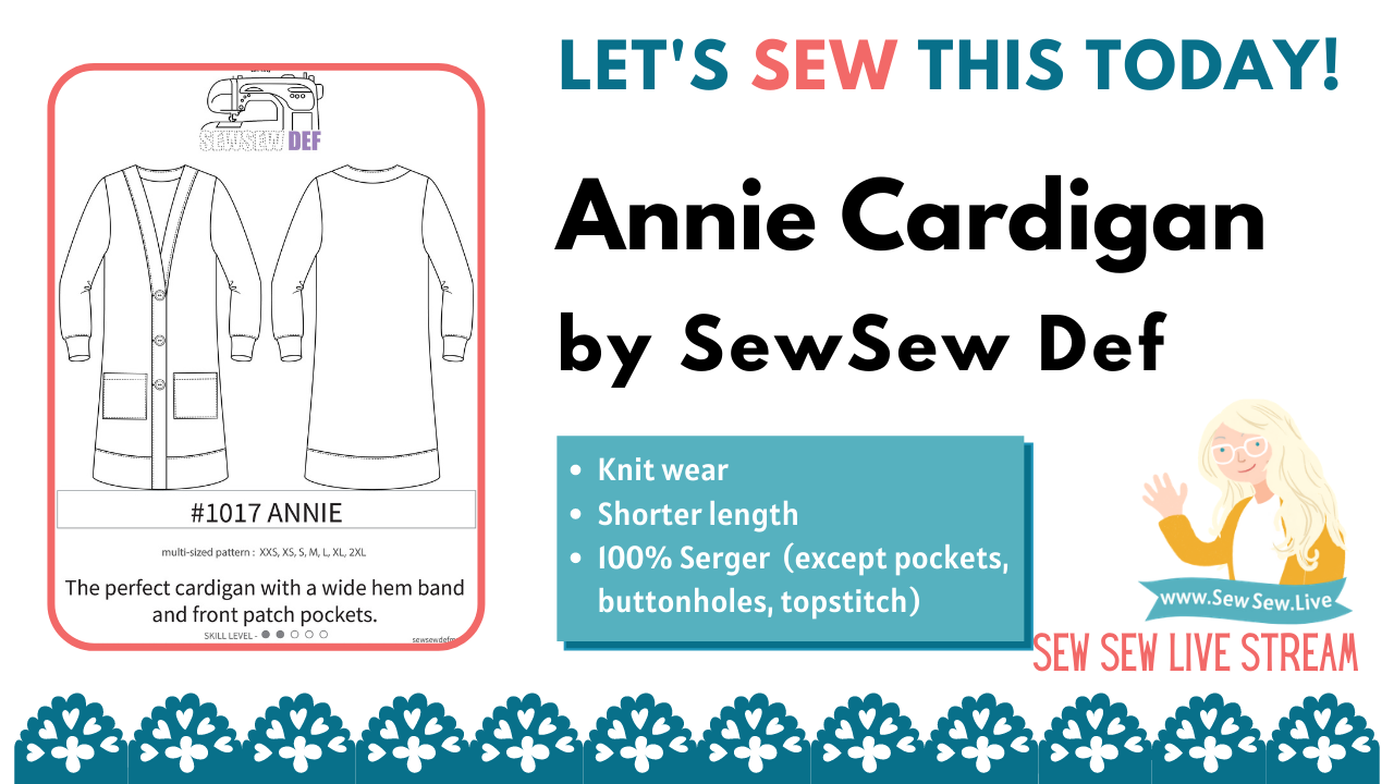 Annie Cardigan by Sew Sew Def and Mimi G Style