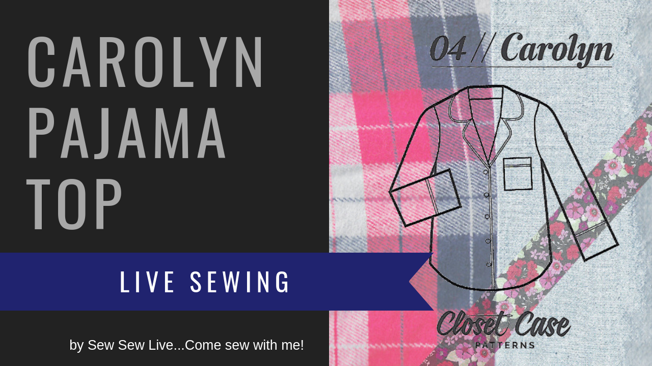 Carolyn Pajama Top by Closet Case Patterns