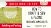 How to Draft and Sew a Facing