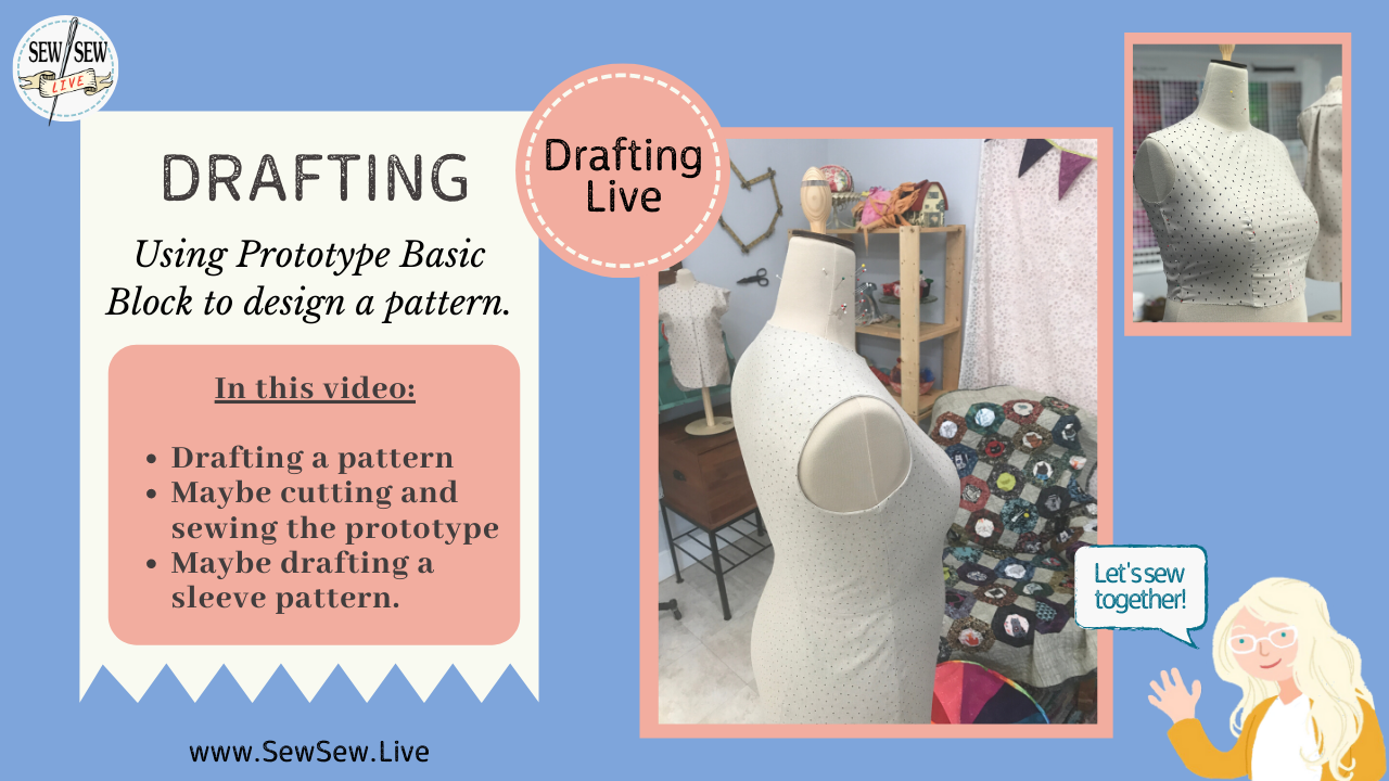 Draping & Drafting Basic Block & Sleeve using Beatrice Form