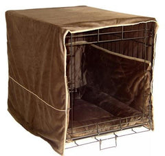 Plush Dog Crate Cover - Small/Coco Brown