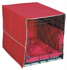 Front Door Dog Crate Cover - Large/Burgundy