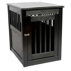 End Table Pet Crate - Medium/Anitque Black