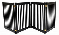Four Panel EZ Pet Gate - Large/Black