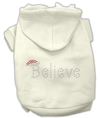 Believe Christmas Hoodie for Dogs Cream-Extra Small