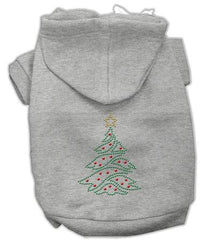 Christmas Tree Dog Hoodie Grey-Extra Large