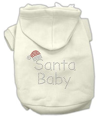 Santa Baby Dog Hoodie Cream-Small