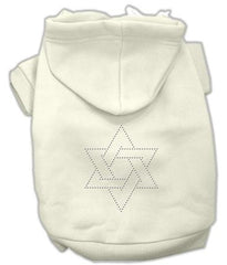 Star of David Dog Hoodie Cream-Medium