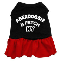 Aberdoggie NY Dog Dress - Red XS