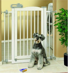 One Touch Pet Gate - White