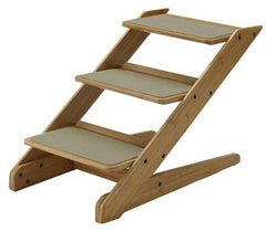 Bamboo 3 Step Pet Stool