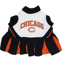 Chicago Bears NFL Dog Cheerleader Outfit - Extra Small