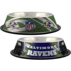 Baltimore Ravens Stainless Dog Bowl