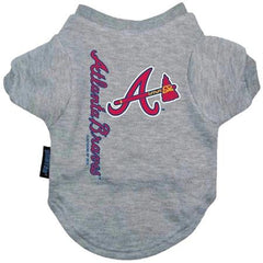 Atlanta Braves Dog Tee Shirt - Medium