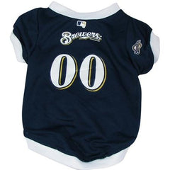 Milwaukee Brewers Dog Jersey - Small