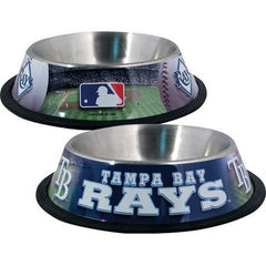 Tampa Bay Rays Stainless Dog Bowl