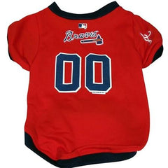 Atlanta Braves Dog Jersey - Large