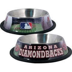 Arizona Diamondbacks Stainless Dog Bowl