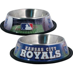 Kansas City Royals Stainless Dog Bowl