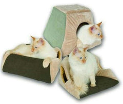 Thermo Kitty Cabin Heated Cat Bed - Mocha