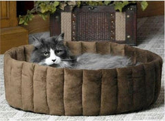 Kitty Cup Pet Bed - Large/Mocha