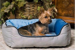Self Warming Lounger Dog Bed - Gray & Blue