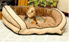 Bolster Pet Couch - Small/Mocha