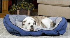 Bolster Pet Couch - Small/Blue