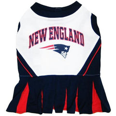 New England Patriots NFL Dog Cheerleader Outfit - Small