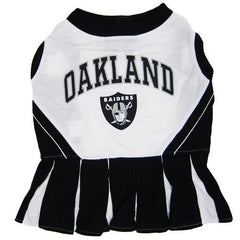 Oakland Raiders NFL Dog Cheerleader Outfit - Extra Small