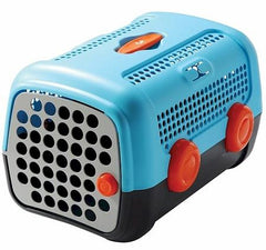 Auto Pet Carrier - Blue/Black - Orange Wheels